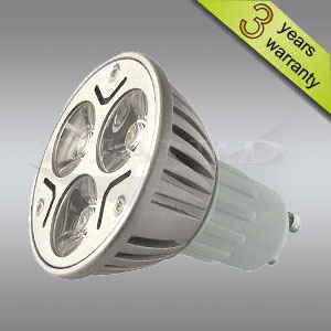 LED Bulb GU10 3x1W or 3x2W